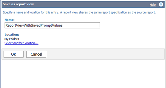 Report View save as II
